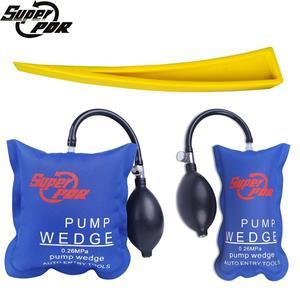 Image 1 - Super PDR 3 PCS / Set Pump Wedge Locksmith Tools Airbag Car Hand Tools Pump Wedge Air Wedge Airbag Set Dent Remover Kit Auto