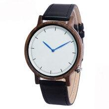 Natural De Madeira Relógio com Pulseira de Couro Marrom Genuíno Movimento de Quartzo Japonês Relógios Casuais