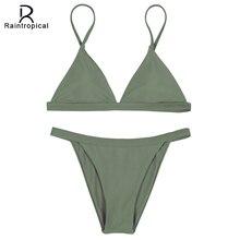 Raintropical 2016 НОВЫЙ Мини Сексуальная Micro Bikinis Swimsuit Женщин Купальники Бразильские Бикини Set Beach Купальники Swim Wear Biquini
