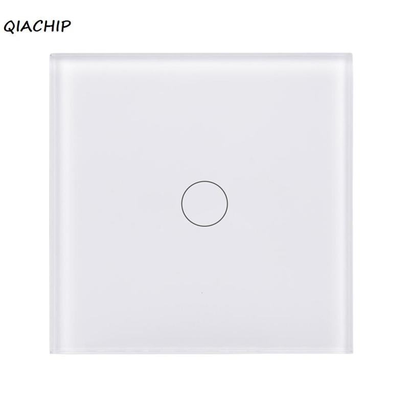 QIACHIP WiFi Smart Switch 1 Gang Touch sensor switch APP Remote Control Light Wall Switch Work with Amazon Alexa Google Home H4 ewelink us type 2 gang wall light smart switch touch control panel wifi remote control via smart phone work with alexa ewelink