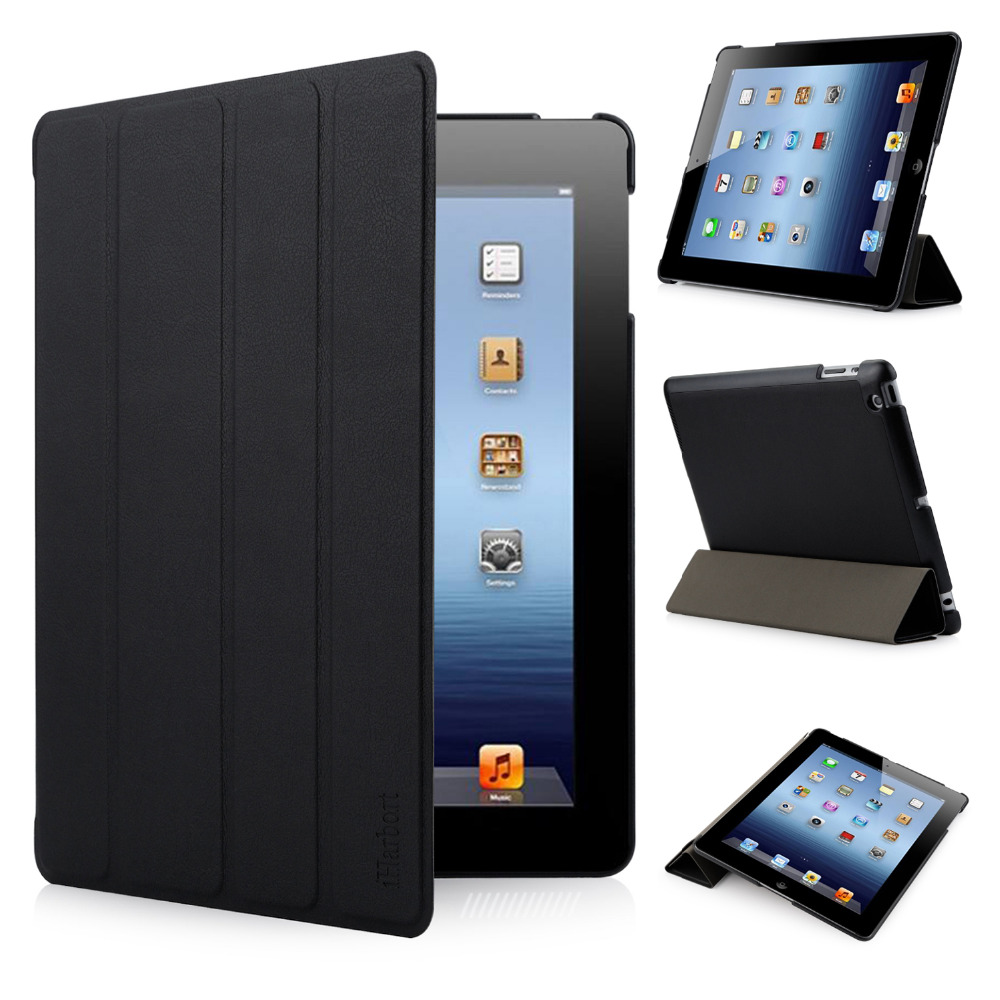 Case for iPad 2/ 3 /4, iHarbort Premium PU Leather Smart Cases Cover Stand with Multi-Angles holder
