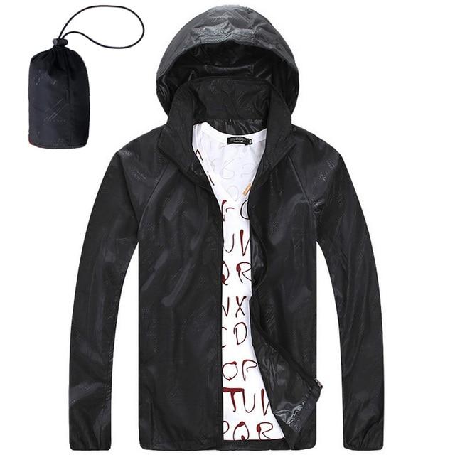 5534bf7cc4a Защита от Солнца защиты кожи летние Куртки Для мужчин 2017 ветрозащитные  пальто с капюшоном фрукты Цвета