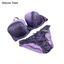 Dream Tree Women Underwear Bra CD Cup Big Size XXX Bra & Brief Sets Back Closure Decorate Lace Ingerie Sexy Hot Sexy Underwear