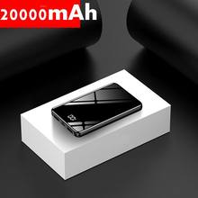 Slim 20000 mAh Power Bank Fast Charging Mini Pover Bank 20000 Mirror Screen Powerbank External Battery Pack Poverbank For Phone external battery romoss ho20 with display 20000 mah [official 1 year warranty fast shipping]
