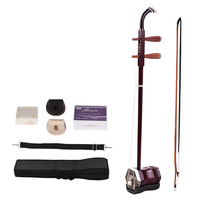Solidwood Chinese Erhu 2 string Violin Fiddle Stringed Musical Instrument Red