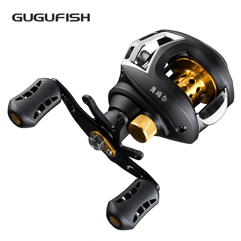 GUGUUFISH 9+1BB Ball Bearings Left/Right Hand Fishing Reel Baitcasting Fishing Water droplets Wheel Gear ratio 6:3:1 lieyuwang 6 1bb fly fishing reel gear ratio 3 6 1 left right hand full metal fishing reel wheel left right hand fly reel