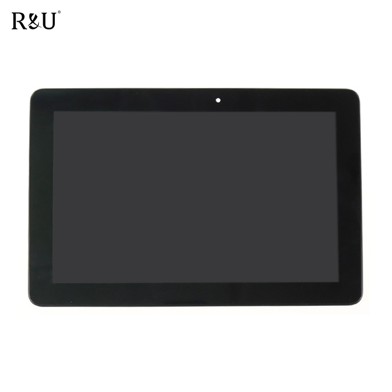 R&U test good LCD display + touch screen assembly with frame For Asus Memo Pad 10 ME102A ME102 K00F MCF-101-0990-01-FPC-V3.0