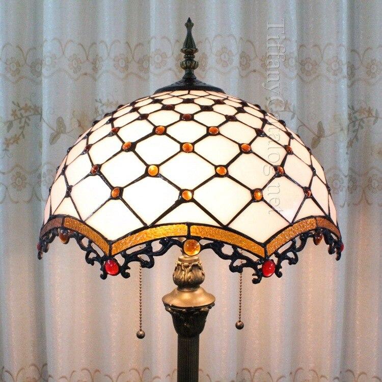 Европейский Средиземноморский стиль Тиффани торшер гостиной, спальни исследование посадка лампа ...