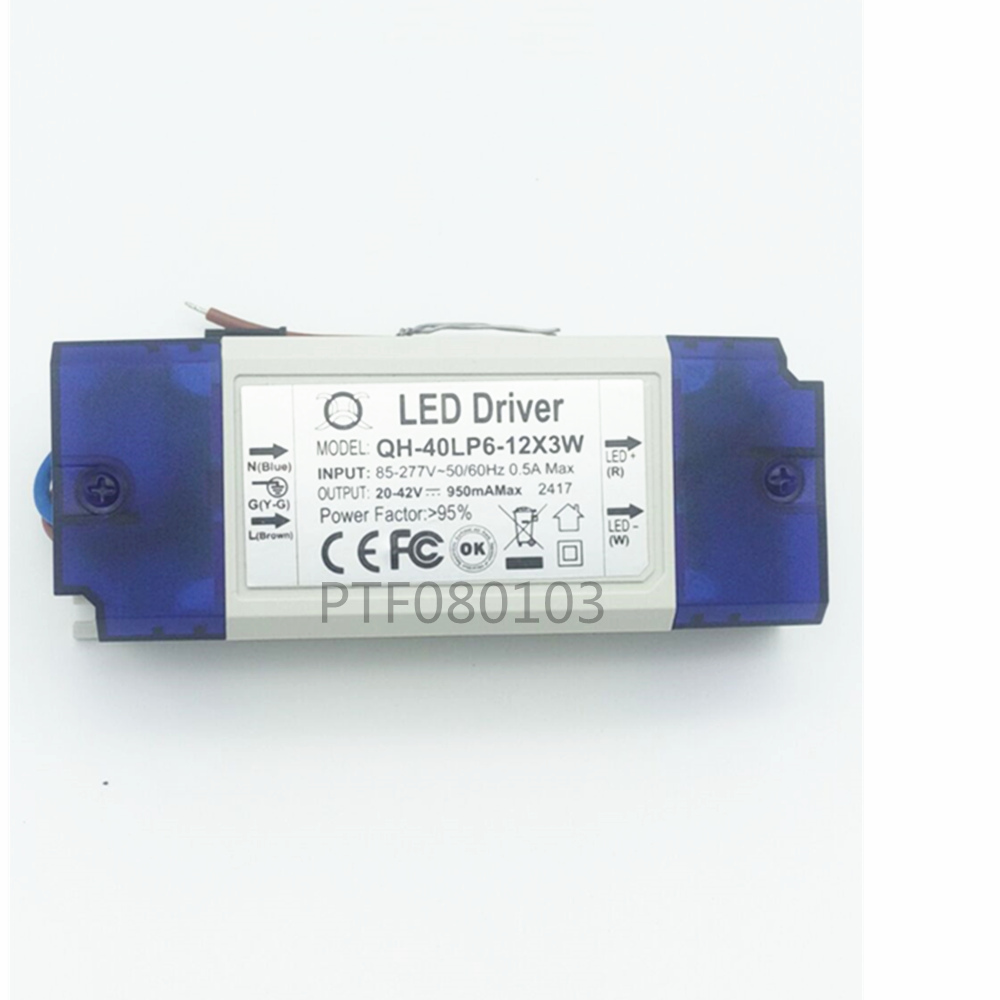 1pcs Driver Input 85 265v Output Dc20 42v 600ma For 6 12x 3w High Picture Of Power Led Circuits 12x3w