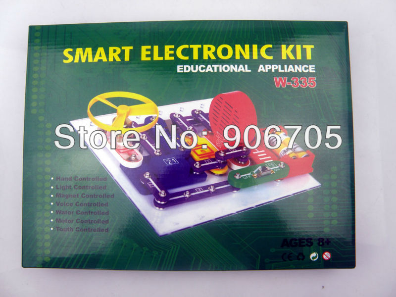 Smart Electronic block kit W-335,ELENCO Snap Circuits Extreme educational appliance,Educational toys for kids 335 projects free shipping solar educational kit electronic building blocks w 9889 educational appliance toys for kids 1pc lot