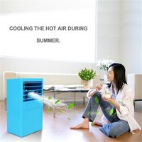 Mini Air Conditioning Fan Low Noise 3 Wind Speeds Cooler Digital Cooling System Timing Air Humidifier for Home Office
