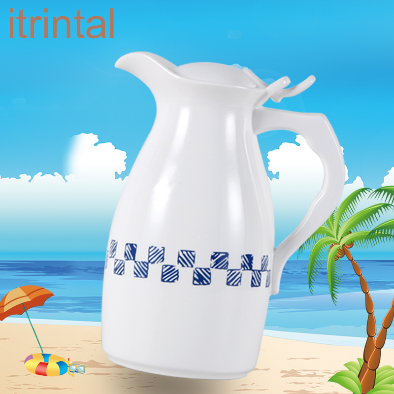 Us 44 05 Simple Ceramic Jug With Handle Cover 1 5l Water Kettle Juice Pot Home Used Office Suit For Cold And Boiling In
