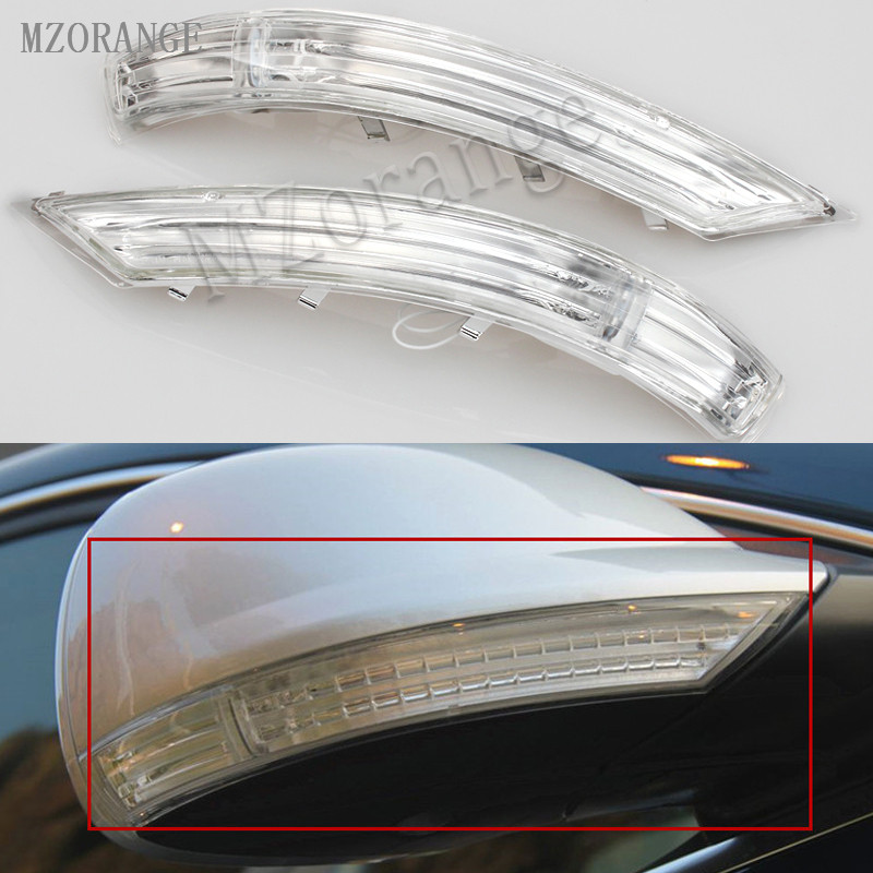 MZORANGE Side Rearview mirror turn signal lamp light Indicator 7L6 949 102 For Volkswagen ForVW TOUAREG 2007 2008 2009 2010 2011 rearview mirror turn signal side mirror streamer lamp modified 5gg 949 102 for golf 7 2014 2015 touran 2015 on right side 5gg949