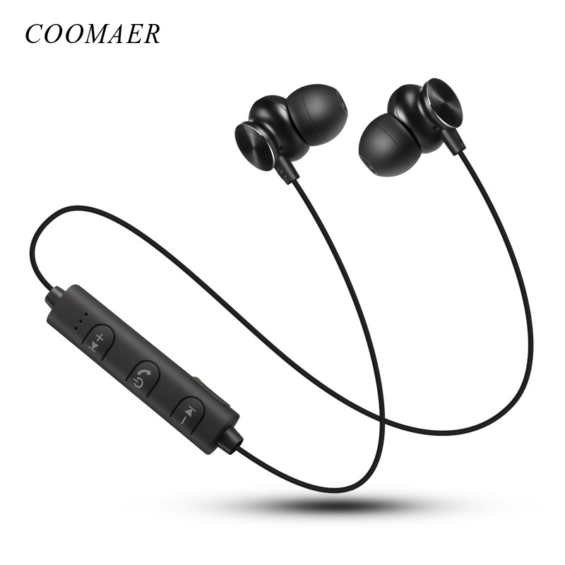 Original De Metal Magnético Bluetooth 4.2 Fones De Ouvido fone de Ouvido Esporte de Corrida Sem Fio Fones De Ouvido Bluetooth Com Microfone Para Telefone
