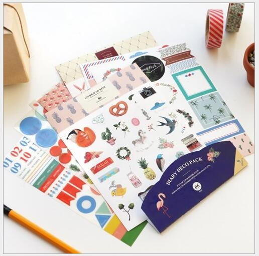 Aliexpress 6sheets Pack China Pony Stickers Sbook Diary Deco Decorative Items School Stationery Supplies G055 From Reliable
