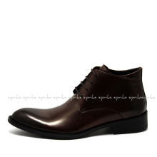 Mens Martin Boots Genuine Leather Brown