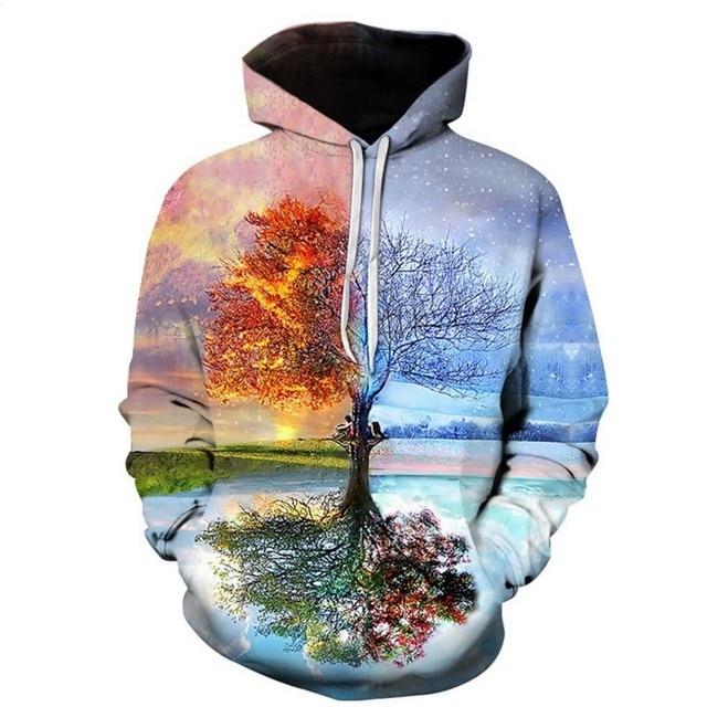 FILLMANNS Space Universe planet Hoodies Hooded Men/Women Hat 3d Sweatshirts Print Colorful Nebula Thin Autumn Sweatshirts  4