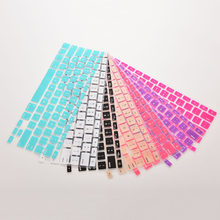 JETTINGSilicone clavier couverture protecteur peau pour Apple Macbook Pro MAC 13 15 Air 13 doux clavier autocollants 7 couleurs(China)