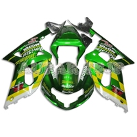 For Suzuki GSXR600 2000 2001 2002 2003 GSXR750 00 03 K1 ABS Injection Molding Plastic Shiny Green Yellow Hulls +Seat Cover