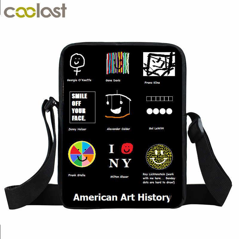 Mona Lisa/Pablo Picass/Van gogh Mini Utusan Tas Untuk Remaja Gadis Sejarah Crossboy Bag Tas Untuk Wanita dari Art Kecil Tote