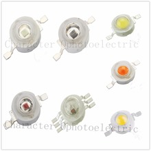 50Pcs/3W Lot Real Original Epistar Chip 3W LED Bulb Diodes Lamp 200lm-220lm White/Red/Yellow/Blue/Green/RGB/UV lR Full Spect