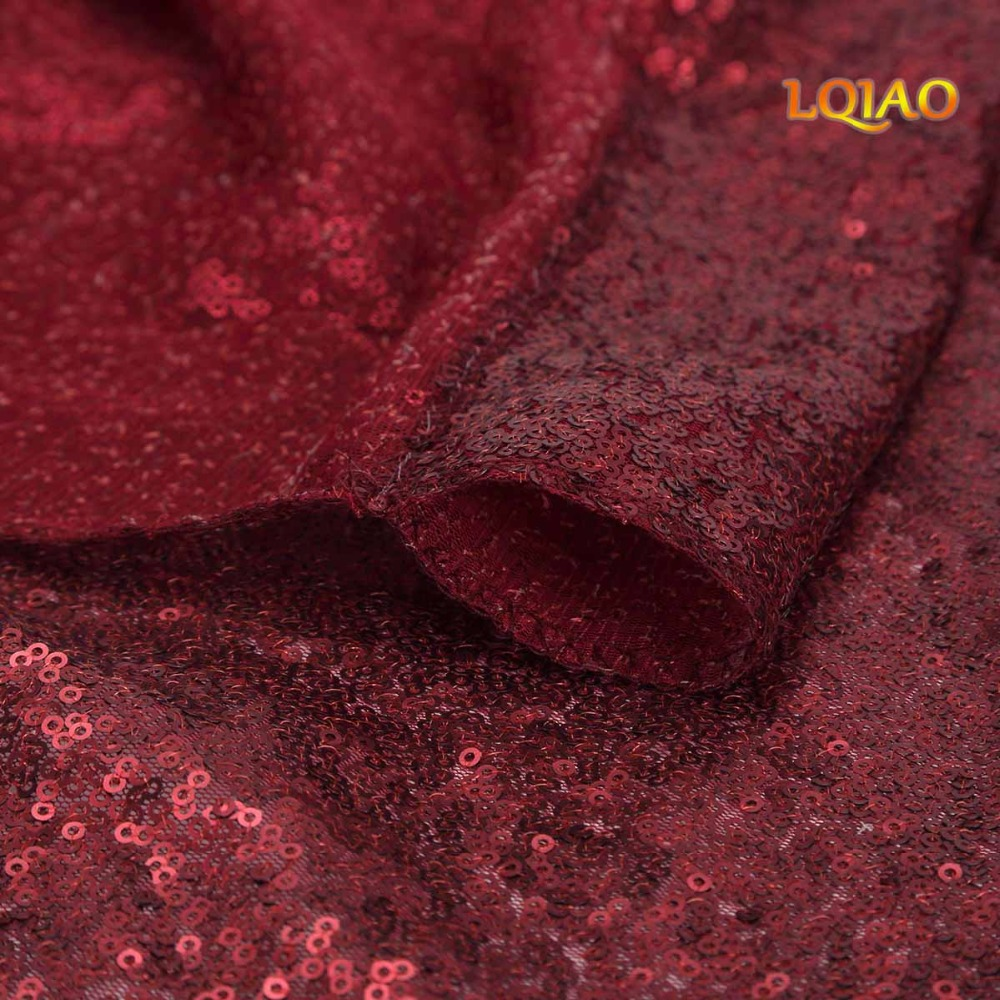 Burgundy Sequin Curtain Backdrop-006