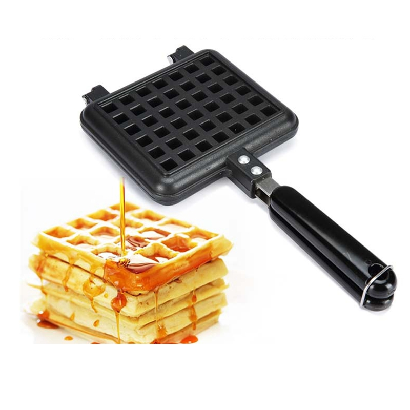 DMWD DIY Waffle Makers For Kids Cake Mould Metal Waffle Mould Bakeware Set Nonstick Baking Mold Set Square S/L купить