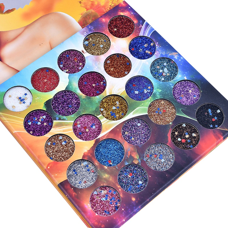 25 Colors Shimmer Eyeshadow Palette Professional Make Up Waterproof Smudge-Proof Sexy Glitter Eye Shadow Makeup Palette