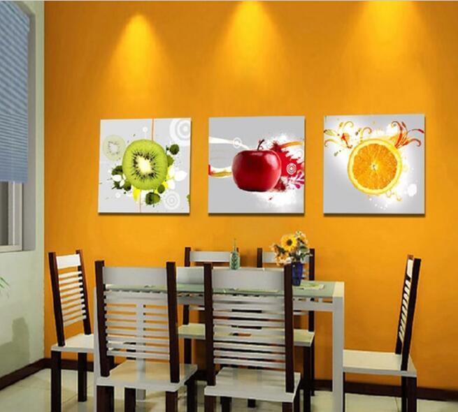 Canvas Art Kitchen Wall Art Fruit Juice Kitchen Decor Oil Printing On Canvas Of Copies Frame