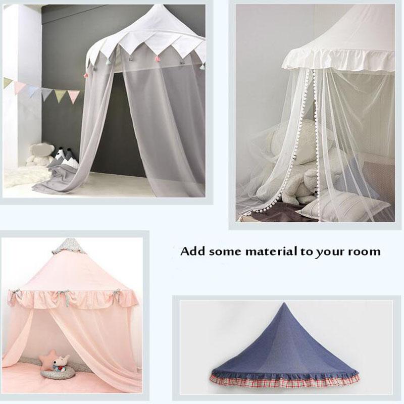Tente de Tipi pour enfants pliable Tipi berceaux en coton suspendus Wigwam piscine sèche nouveau-nés nordique chambre décor accessoires de photographie - 2
