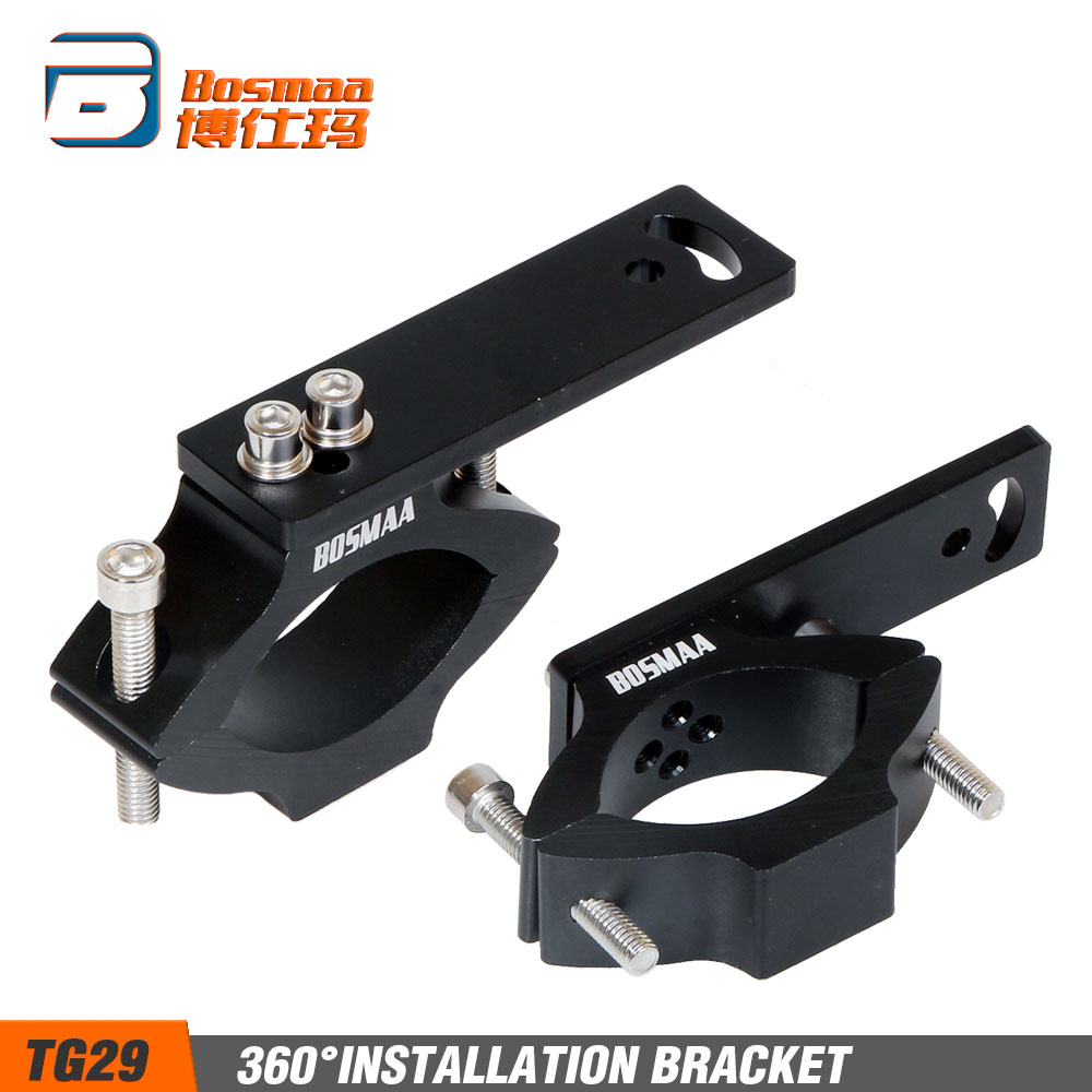 BOSMAA TG29 Motorcycle LED Headlight Tube Fork Bracket For Cafe racer Chopper Motorcycle Hunting Lamp Clamp Holder 22-54mm