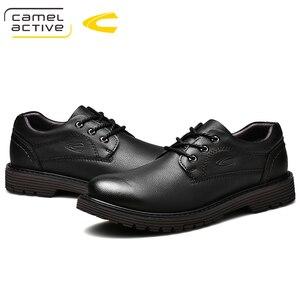 Image 4 - Camel Active ใหม่ยี่ห้อ Mens Oxfords หนังอย่างเป็นทางการรองเท้าสำหรับรองเท้ารอบ Toe Vintage ผู้ชายสบายๆ zapatos