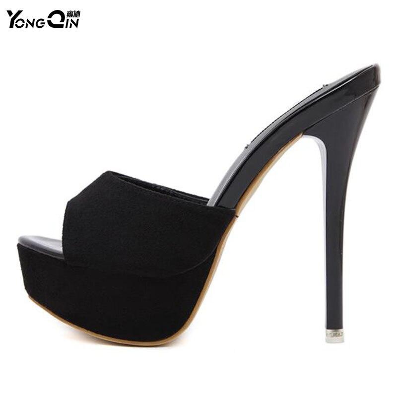 best service bb5e0 fca65 US $20.39 32% OFF YONGQIN Neue Frauen Schuhe Sommer Sandalen High Heels  Plattform Sexy Hausschuhe Frauen Flip Flops Schuhe-in Hohe Absätze aus  Schuhe ...