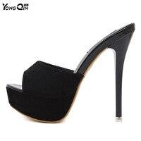 New Women Shoes 2017 Summer Sandals High Heels Platform Sexy Slippers Women Flip Flops Shoes