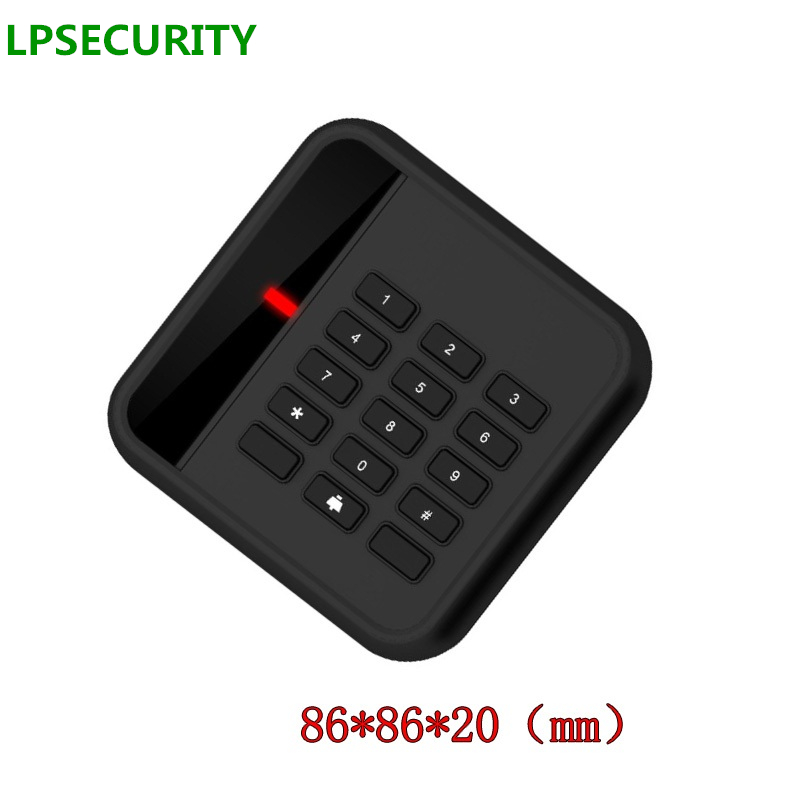 LPSECURITY Waterproof 125khz ID WG26 RFID Reader EM TAGS Card Key reader for door lock Reader Access Control System
