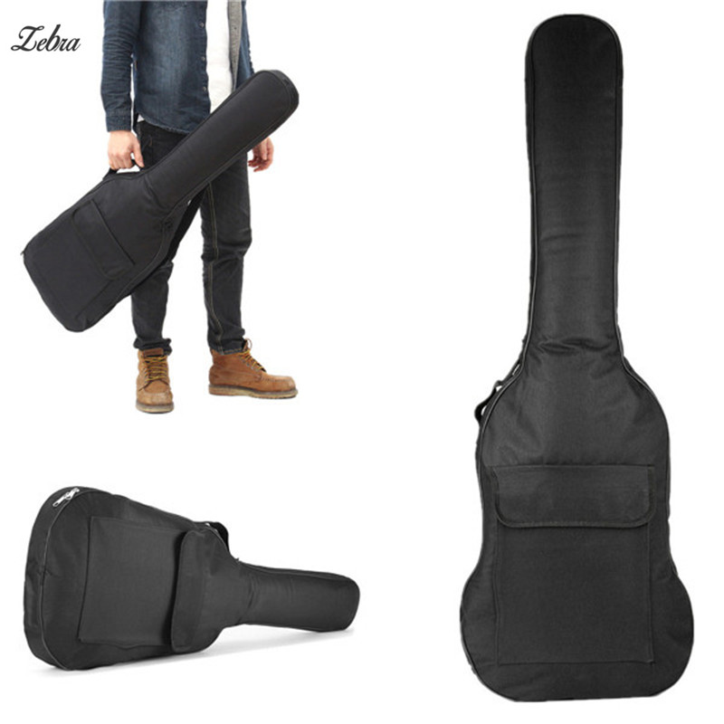 Zebra 120x34x5cm Black Double Straps Electric Guitar Gig Bag Guitarra Case Box Cover Ukulele Backpack For Acessorios Musicais 36 backpack gig bag carry case for ukulele acoustic guitar durable black blue