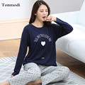 Pajamas For Women Spring And Autumn Long-Sleeve Cotton Sleep Wearing Pullover Pajama Lounge Sets sleepwear