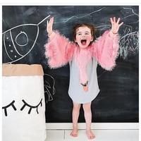 Vestito Dalla Neonata Per Le Ragazze Vestiti Del Fumetto Swan Nappe Cotone Vestito Da Partito Della Ragazza Veste Abito Da Principessa Per I Bambini Che Coprono
