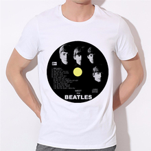 2016 Men's Rock Band T-shirt Factory direct sale can be customized Print 3D the Beatles T Shirt Round Neck Short Sleeve 19-29#