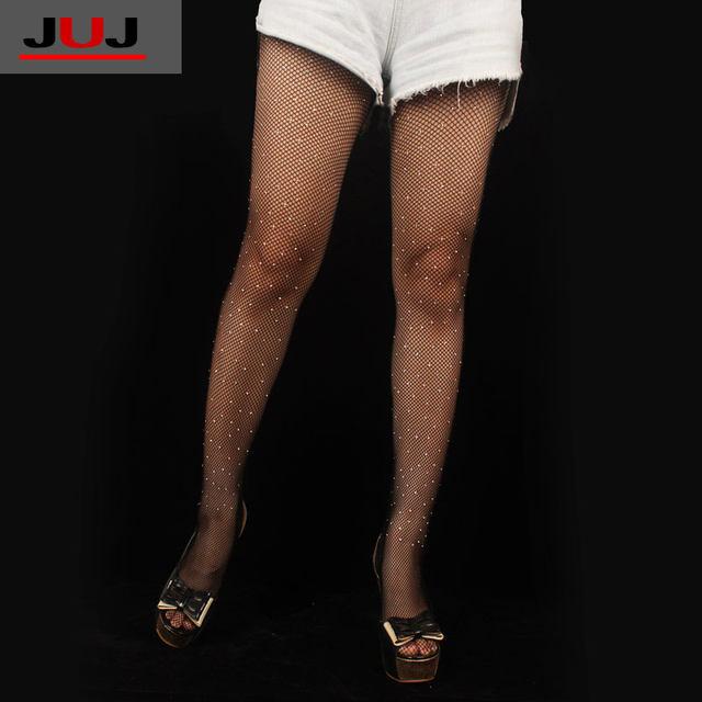 cf4c3edd2 2019 Hot Sale Sexy Women s Ladies Girls Rhinestone Tights Shiny Diamond  Fishnet Stockings Hollow Small Mesh Beading PantyhoseUSD 4.25 piece