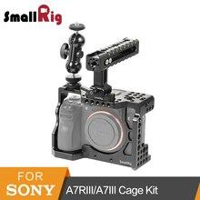 Kit Gaiola Câmera para Sony A7RIII SmallRig/A7III Gaiola Com a Nato Alça + Duplo Cabeças De Bola Kit-2103