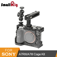 SmallRig Camera Cage Kit for Sony A7RIII/A7III Cage With Nato Handle + Double Ball Heads Kit – 2103