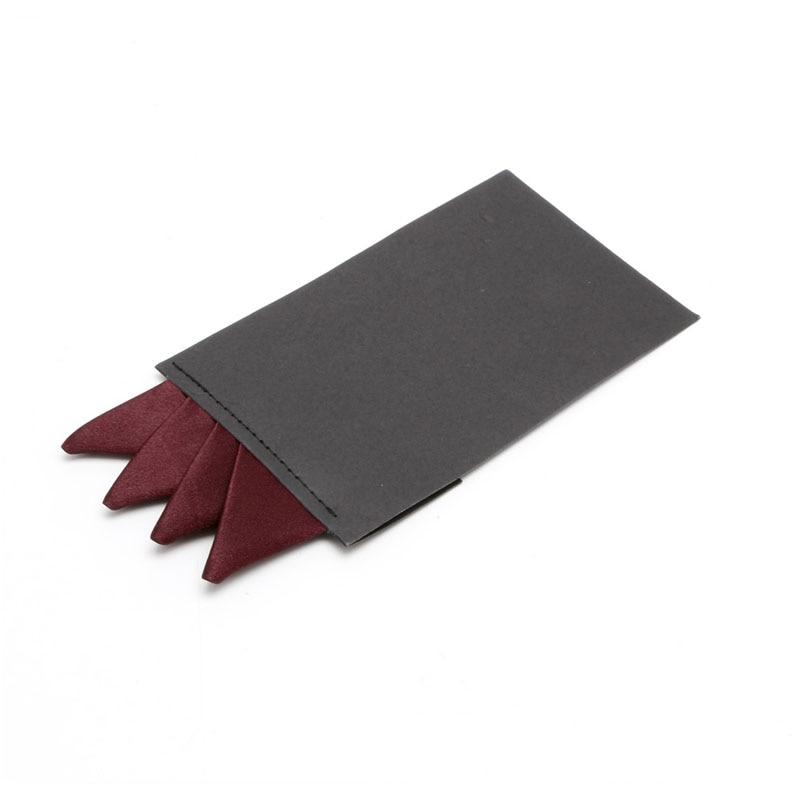 KLV Fashion Men Solid Color Pocket Square Handkerchief Prefold Wedding Party Hanky
