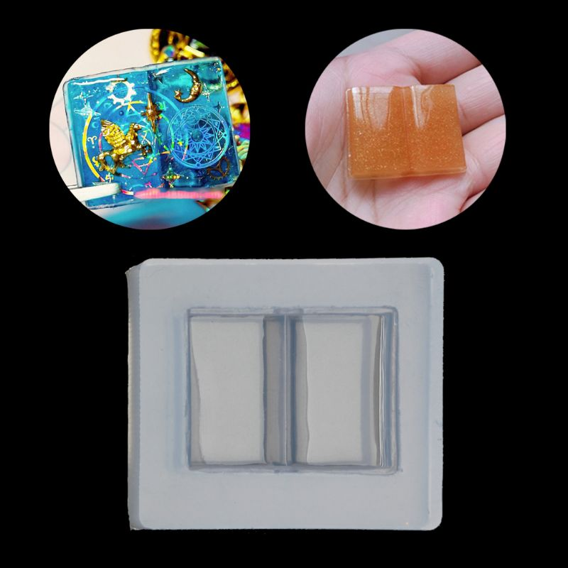 Magic Open Book Resin Casting Silicone Molds DIY Keychain Earrings Jewelry Tools
