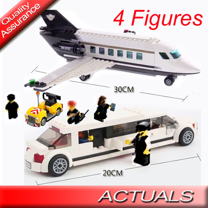 Adroit 393pcsdiy 02044 City Airport Vip Service Building Blocks Plane Model Bricks Gift Toys Compatible With Lego 60102 Model Building