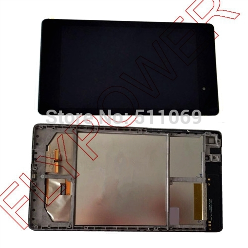 For ASUS Google Nexus 7 II 2nd Tab 2 LCD Screen Display with Touch Screen digitizer Assembly+frame free shipping;100% Original new lcd touch screen digitizer with frame assembly for lg google nexus 5 d820 d821 free shipping