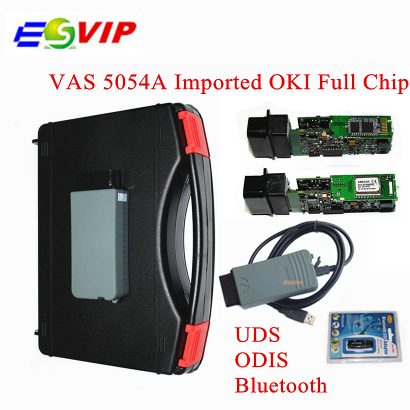 DHL free Newest Imported Full OKI Chip VAS 5054A Diagnostic Tool VAS 5054 ODIS V3.0.3 VAS5054 Bluetooth Support UDS Protocol