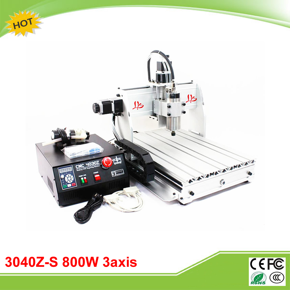 CNC 3040Z-S 3 axis mini CNC router with 800W VFD water cooled spindle engraving lathe machine free tax to EU cnc 3040z s 3 axis mini cnc router with 800w vfd water cooled spindle engraving lathe machine free tax to eu