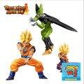 Celular Vitrine Dramática De Dragon Ball Z Figuras de Ação Goku Gohan Super Saiyan Anime Dragon Ball Z DBZ Collectible Toy Modelo