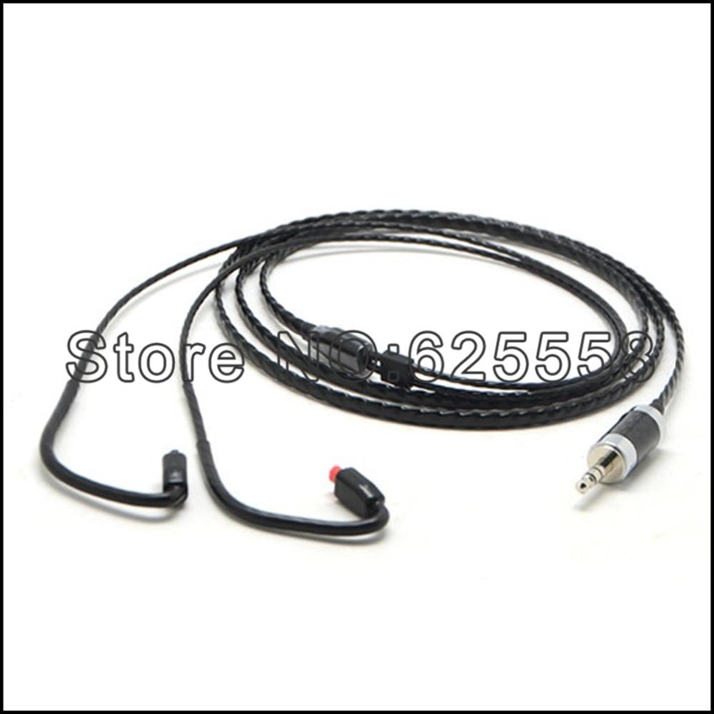120cm black silver plated 8cores audio headphone cable for audiotechnica im50 im70 im01 im02 im03
